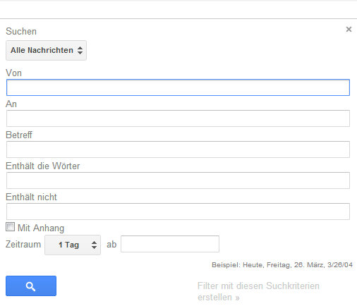 Gmail Filtereinstellungen